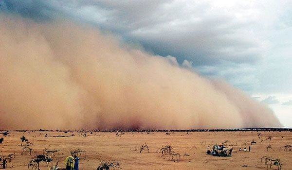 Sandstorms are called as dust storm, because it comes with huge ...